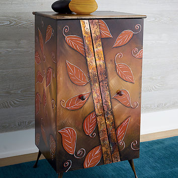 Autumn Cabinet by Wendy Grossman (Wood Cabinet) | Artful Home