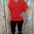 Dolman Top: Red