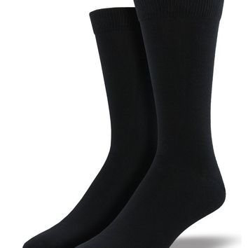 Men's Bamboo Solid Black Socks