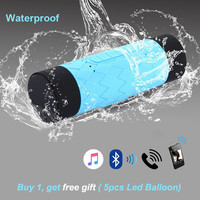 Silicone Outdoor 10W Portable Waterproof Bluetooth Speaker 5200 mAh Power Bank Mp3 Bicycle Wireless Loudspeaker Suppot TF Player