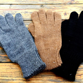 Mens Alpaca Gloves