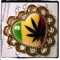 3 Big Cannabis Weed Ganja Marijuana 420 by xMakingJewelryx on Etsy