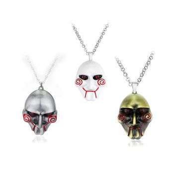 Deadpool Dead pool Taco Movie Jewelry  Saw Mask metal Pendant Necklace Silver Chain AT_70_6