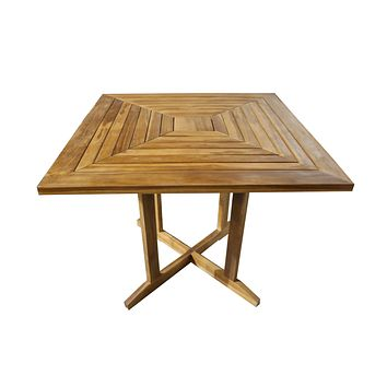 ALA TEAK Wood Patio Outside Indoor Outdoor Garden Yard Waterproof Table Furniture