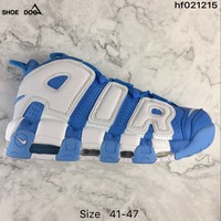 Nike Air More Uptempo White/Royal Blue Sneaker
