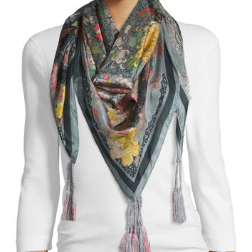 Floral-Print Silk Scarf, Size: ONE SIZE, MULTI - Johnny Was Collection