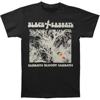 Black Sabbath Men's  Vintage Sabbath Bloody Sabbath Slim Fit T-shirt Black