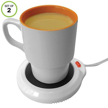 Evelots Electric Mug Beverage Warmer, Cup Heater for Coffee Tea Soup