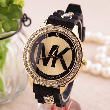 New Arrival Awesome Good Price Gift Great Deal Designer's Trendy Silicone Chain Stylish Ladies Hot Sale Quartz Watch [6407505284]