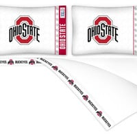 Ohio State Buckeyes Micro Fiber Sheet Set