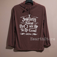 I Solemnly Swear Shirt Harry Potter Shirt Long Sleeve Hoodie TShirt T Shirt Unisex - size S M L