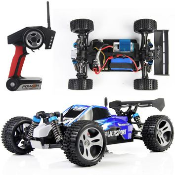 2.4G HZ 1:18 Full Proportional RC Car 45KM/H High Speed Auto Model 4WD Remote Control Off-Road Racing Car Toys for Adult and Kid