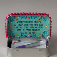 Mom Pray More Worry Less Prayer Box