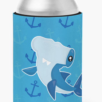 Hammerhead Shark on Anchors Can or Bottle Hugger BB6941CC