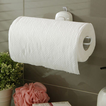 Sanitary Toilet Paper Holder Tissue Box Kitchen Bathroom Storage Rack Roll Paper Tissue Holder Towel Rack