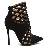 RODEO Cutout Ankle Bootie in Black at FLYJANE