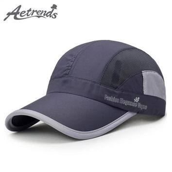 Trendy Winter Jacket [AETRENDS] Breathable Mesh Cap Summer Baseball Caps Men Women 5 Panel Cap Golf Polo Hats Snapback Baseball Cap with Mesh Z-6307 AT_92_12