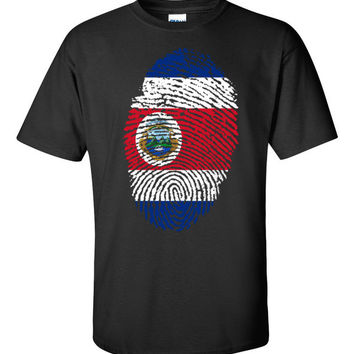 Costa Rican Fingerprint Flag Short sleeve t-shirt - 3XL-5XL