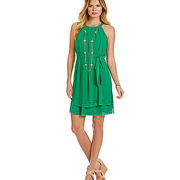 Jessica Simpson Laser Cut Chiffon Dress | Dillards.com