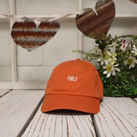 PABLO Baseball Hat Low Profile Embroidered Baseball Caps Dad Hats Orange