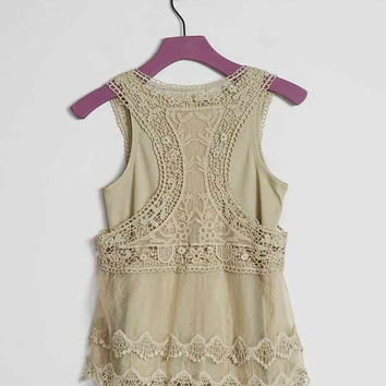 GIRLS - DAYTRIP LACE TANK TOP