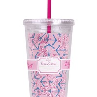 Delta Gamma Tumbler with Straw by Lilly Pulitzer - FINAL SALE