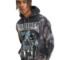 Metallica Dirty Window Bleach Wash Hoodie