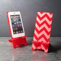 iPhone 5 or iPhone 4 Phone Stand Docking Station - Acrylic Chevron Pattern Your Choice Of Color