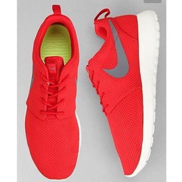 """""""NIKE"""" Trending Fashion Casual Sports Shoes Red grey hook"""