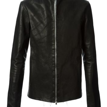A Diciannoveventitre leather zip fastening jacket