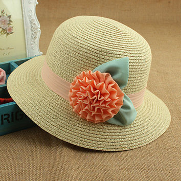 Ladies Summer Beach Folded Hats [10136605895]