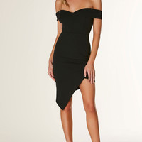 Work Hard Off Shoulder Dress