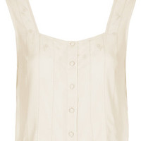 EMBROIDERED LADDERED CROP TOP
