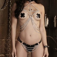 Draped Chain Harness and Thong