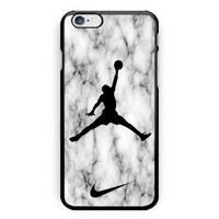 New Nike Jordan Air White Marble Print on hard case for iPhone 6s, 6s plus