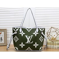 LV Fashion Lady's Color Full Print Single Shoulder Bag Shopping Bag