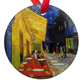 Vincent Van Gogh Cafe Double Sided Porcelain Ornaments