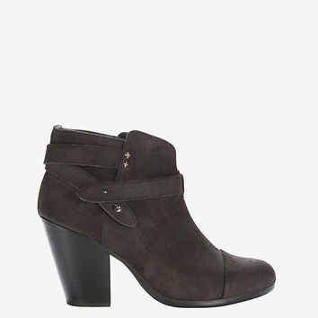 rag & bone Harrow Bootie: Waxy Suede Asphalt at INTERMIX | Shop Now | Shop IntermixOnline.com