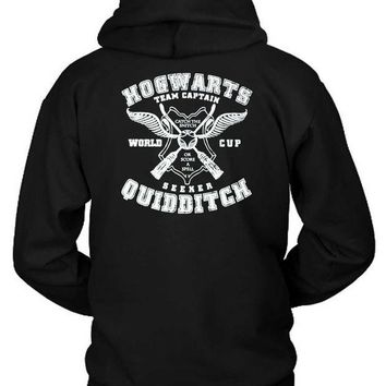 ESBH9S Quidditch Hogwarts Athletics Harry Potter Geek Fan Parody Hoodie Two Sided