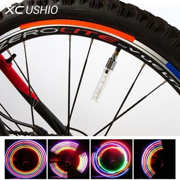5 LED Flash Light Mountain Bike Bicycle Motorcycle Tyre Tire Wheel Valve Cap Spoke Lamp Colorful Light Bicycle Accessories