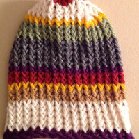 Doctor Who Fourth Doctor Scarf Inspired Baby Infant Knitted Winter Hat