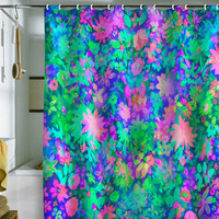 DENY Designs Home Accessories | Amy Sia Fluro Floral Shower Curtain