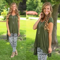 Autumn Afternoons Tunic in Olive