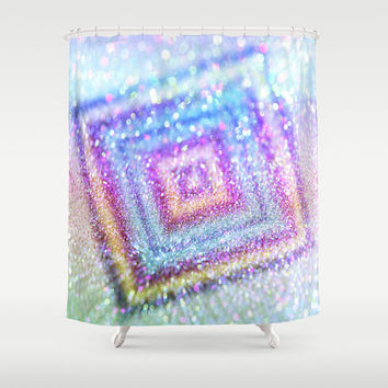 diamond glitter Shower Curtain by Haroulita