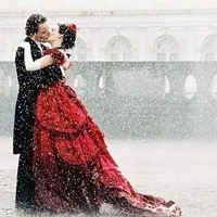 art, beautiful, colorcontrasts, couple, female, kiss - inspiring picture on Favim.com