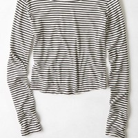 AEO Women's Don't Ask Why Ribbed Ballet Top