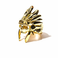 *Mr. Indian Chief Ring (Gold)*