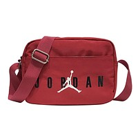 AIR JORDAN 2019 new simple printed shoulder slung portable zipper small square bag red