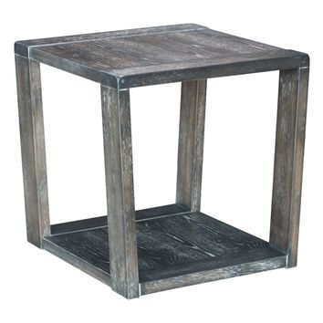 Skyline End Table Distressed Gray