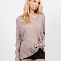 Loose Long Sleeve Basic Tee